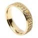 Men's Celtic Hearts Wedding Band - Yellow Gold