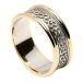 Men's Celtic Hearts Band with Trim - White with Yellow Trim