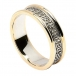 Women's Celtic Hearts Band with Trim - White with Yellow Trim