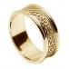 Bande de coeurs celtiques pour homme avec bordure - tout or jaune