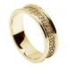 Women's Celtic Hearts Band with Trim - All Yellow Gold