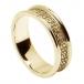 Bande de coeurs celtiques pour femme avec bordure - tout or jaune