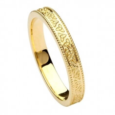 Women's Trinity Knot Wedding Band - Yellow Gold