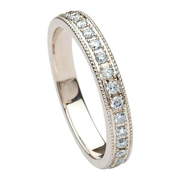 Women S Trinity Knot Diamond Wedding Band Celtic Rings Ltd