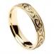 Hommes anneau de mariage celtique en relief - or jaune