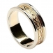 Women's Embossed Celtic Knot Ring - Yellow Gold with White Gold Trim