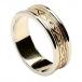 Keltischer Knotenring für Damen - Gelbgold mit Weißgoldverzierung
