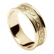 Women's Embossed Celtic Knot Ring - Yellow Gold with Yellow Gold Trim