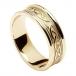Bague noeud celtique en relief pour femme - or jaune avec bordure en or jaune