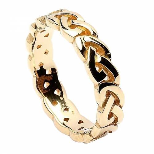 Keltischer Knoten Ehering - Gelbgold