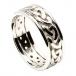 Männer keltischen Knoten Ring mit trim - Alles weiße Gold