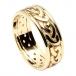 Bague celtique avec bordure pour homme - Tout en or jaune