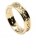 Women's Celtic Knot Ring with Trim - All Yellow Gold