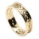 Bague noeud celtique pour femme avec garniture - tout en or jaune