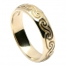 Men's Celtic Spiral Wedding Band - Yellow Gold
