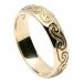 Herren keltische Spirale Ehering - Gelbgold
