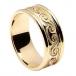 Keltisches Spiralband mit Besatz - alles gelbe Gold