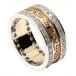 Keltische Spiralband mit Diamantbesatz - gelb mit weißem Gold trim