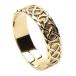 Men's Pierced Celtic Knot Ring - Yellow Gold