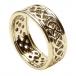 Herren-durchstochen keltischen Knoten Ring mit trim - alles gelbe Gold