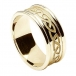Men's Engraved Celtic Knot Ring with Trim - All Yellow Gold