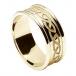 Herren eingraviert keltischer Knoten Ring mit Zier - alles gelbe Gold