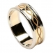 Engraved Spiral Ring with Trim - Yellow with White Gold Trim