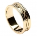 Engraved Spiral Ring with Trim - All Yellow Gold