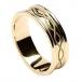 Gravierte Spiralring mit Trim - Alles Gelbe Gold