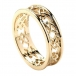 Women's Love Knot Wedding Ring - All Yellow Gold