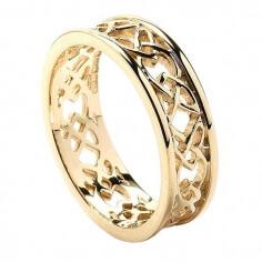 Femmes noeud d'amour bague de mariage - Tous or jaune