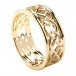 Men's Love Knot Wedding Ring - All Yellow Gold