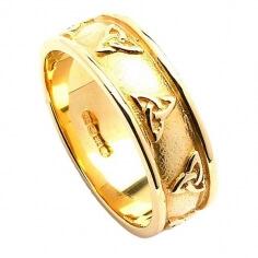 Cour en forme de noeud de trinité anneau de mariage - or jaune