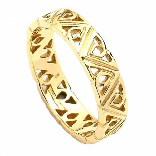 Women's Modern Trinity Knot Wedding Band - Yellow Gold