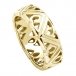 Men's Modern Trinity Knot Wedding Band - Yellow Gold
