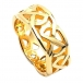 Wide Celtic Wedding Ring - Yellow Gold