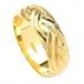 Wide Celtic Weave Design Ring - White Gold