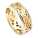 Modern Two-Tone Trinity Knot Wedding Band - Yellow with White Gold Trim