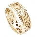 Modern Two-Tone Trinity Knot Wedding Band - All Yellow Gold
