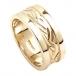 Keltischer gewebter Ehering mit Besatz - Weißes Gold