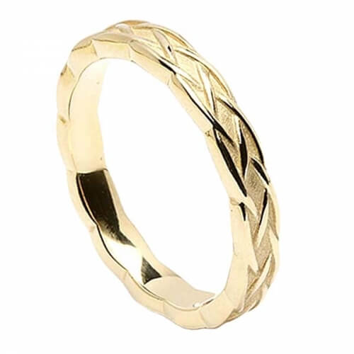 Celtic Weave Wedding Ring - Yellow Gold