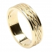 Celtic Weave Band with Trim - All Yellow Gold