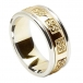 Men's Celtic Wedding Ring with Trim - Yellow with White Gold Trim