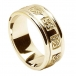 Men's Celtic Wedding Ring with Trim - All Yellow Gold