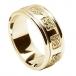 Bague de mariage celtique pour homme avec garniture - Tout l'or jaune
