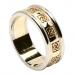 Bague de mariage celtique pour femme avec garniture - Jaune avec bordure en or blanc