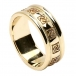 Women's Celtic Wedding Ring with Trim - All Yellow Gold