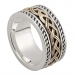 Men's Irish Knot Ring - Silver and 10k Gold