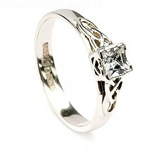 Princess Engagement Ring - White Gold