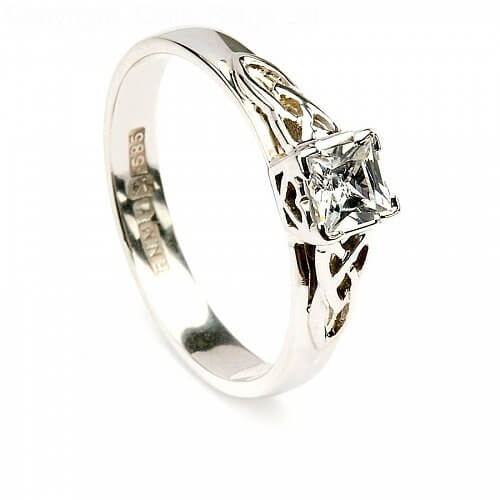 Princess Engagement Ring - White Gold
